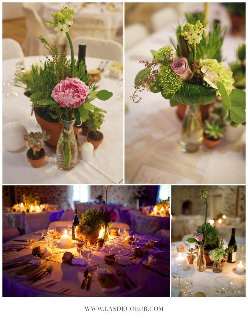 decoration de table mariage au domaine du breuil de doue