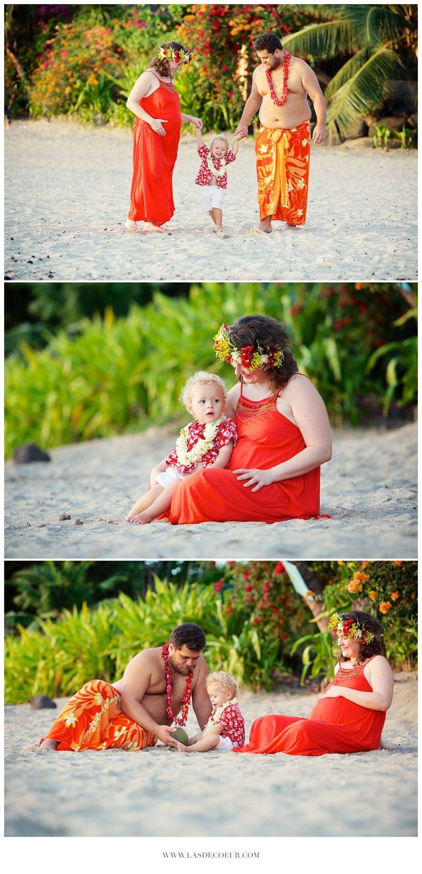 photo grossesse à la plage Tahiti ©lasdecoeur 028
