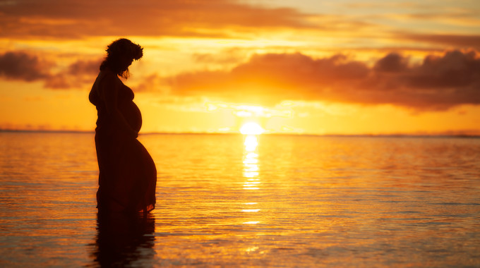Photo Grossesse à La Plage Tahiti ©lasdecoeur 037