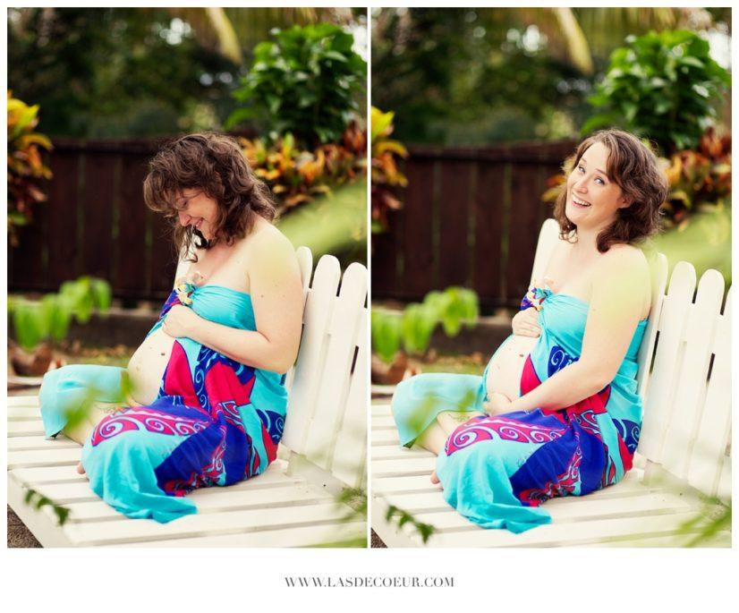 photo grossesse à la plage Tahiti ©lasdecoeur 040