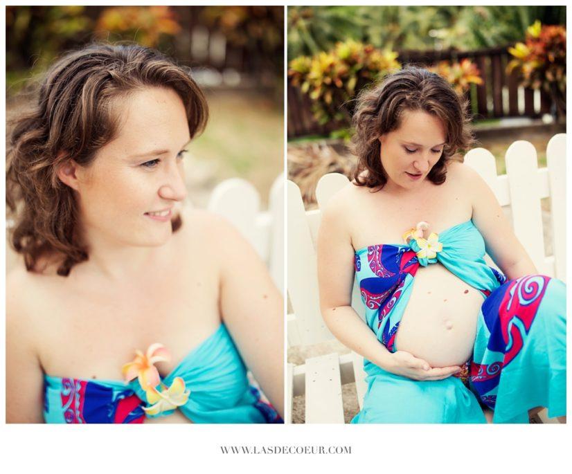 photo grossesse à la plage Tahiti ©lasdecoeur 042