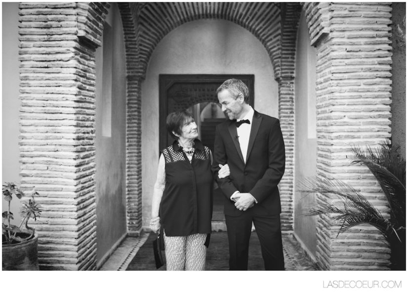 mariage marrakech noir et blanc