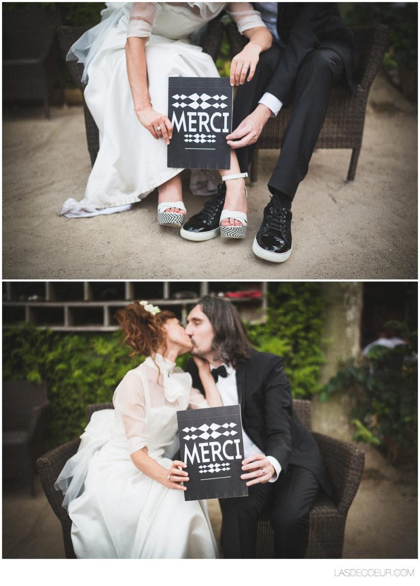 photo remerciements mariage