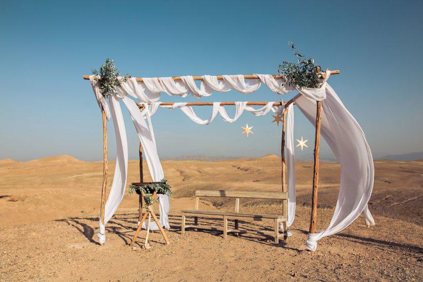 Mariage Sous Les étoiles D'Agafay, Maroc
