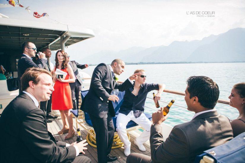 Photos mariage lac leman suisse