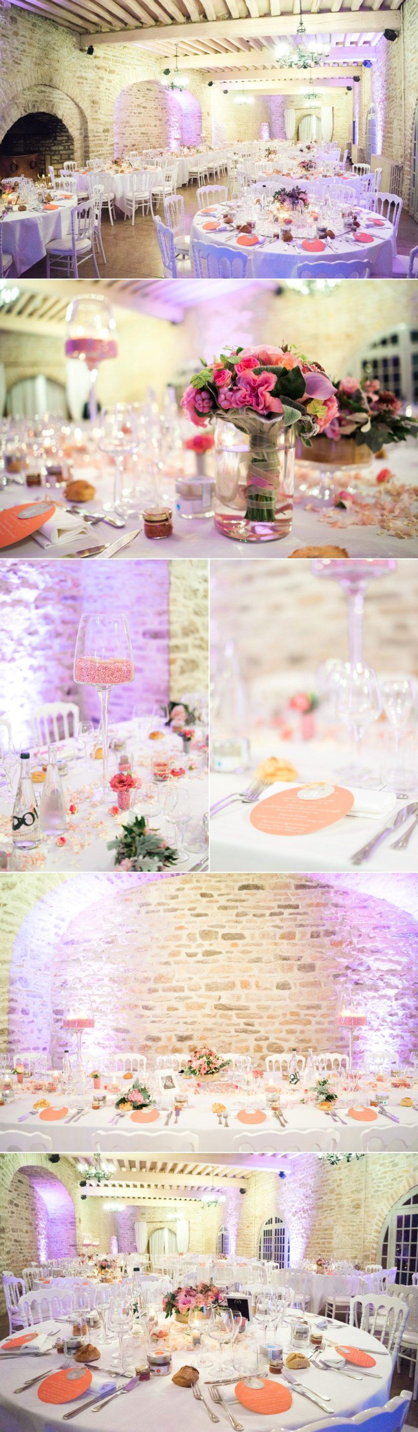 photographe mariage chateau de Santenay deco table