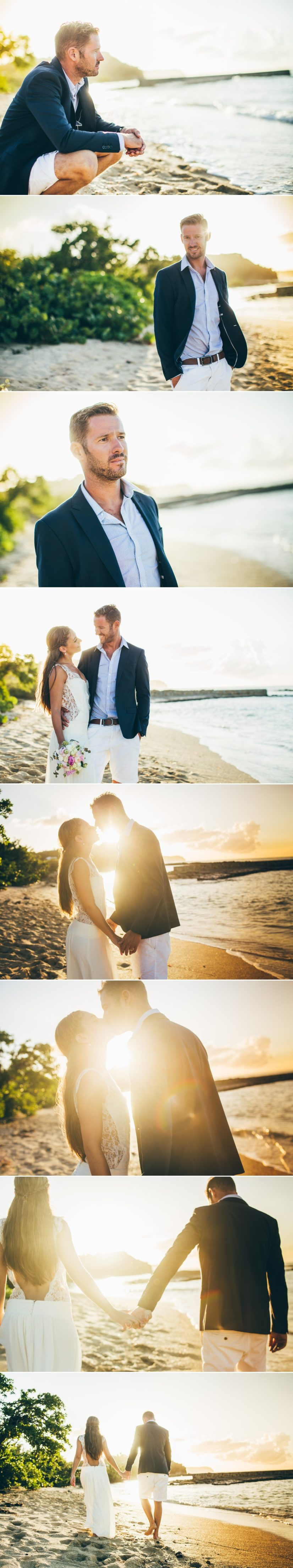 photos couple plage caraïbes L'As de Coeur