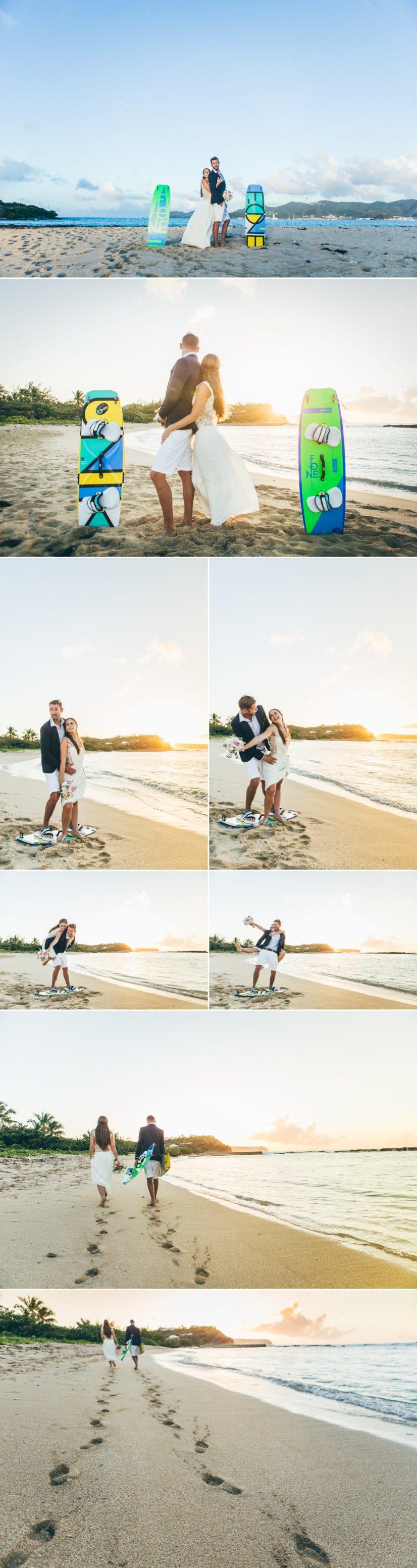 photos couple plage antilles L'As de Coeur