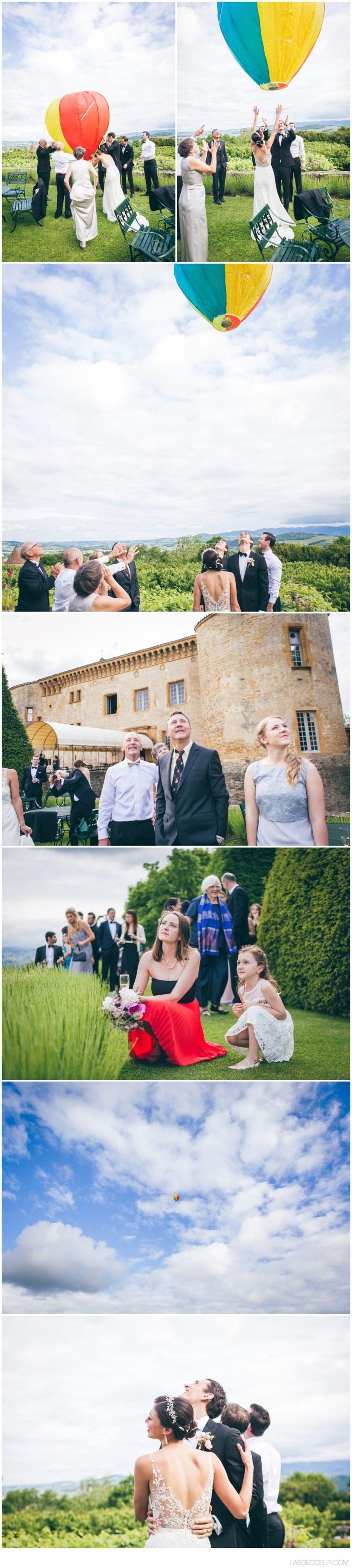 Photographe et vidéaste mariage Lyon lâché de ballon ©lasdecoeur