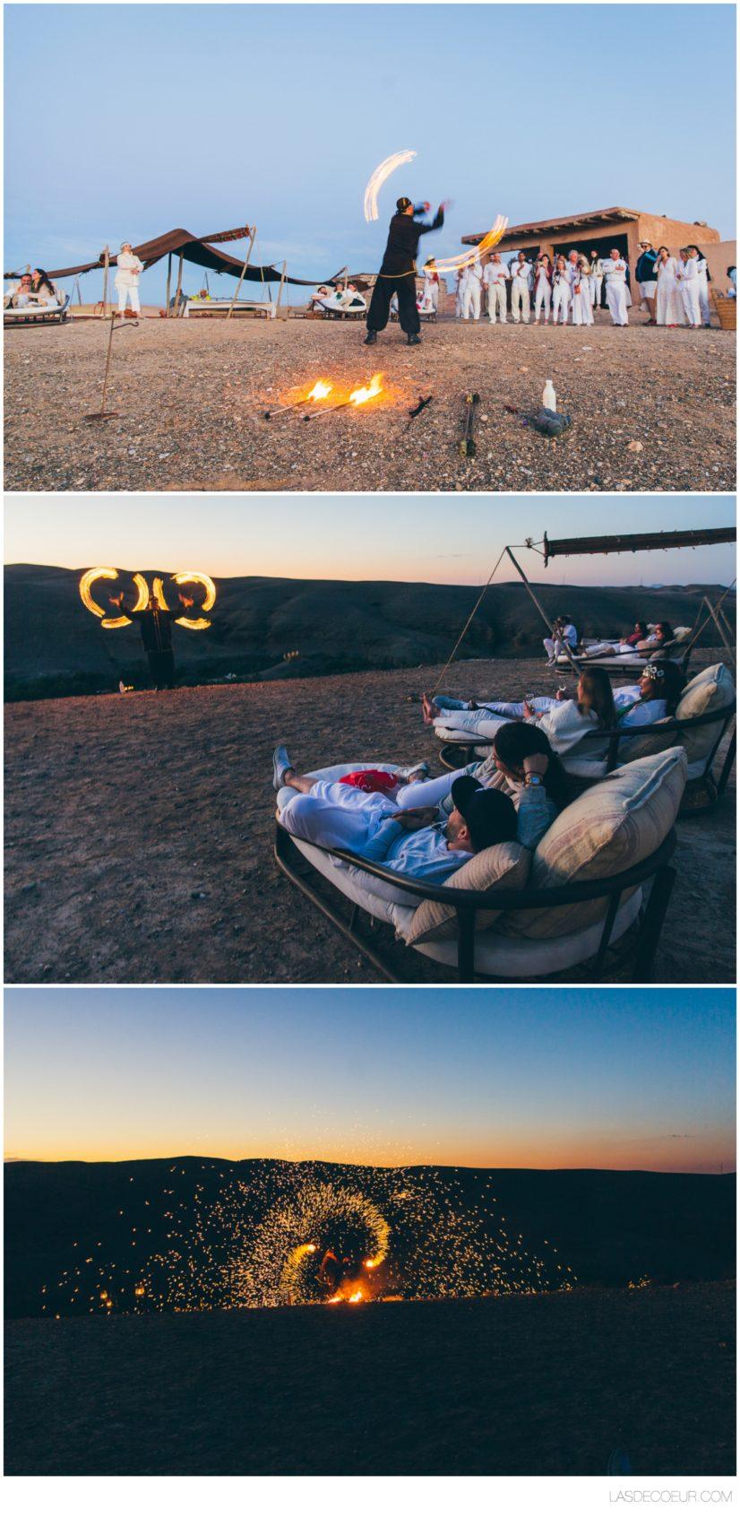 photo mariage Marrakech jongleur de feu
