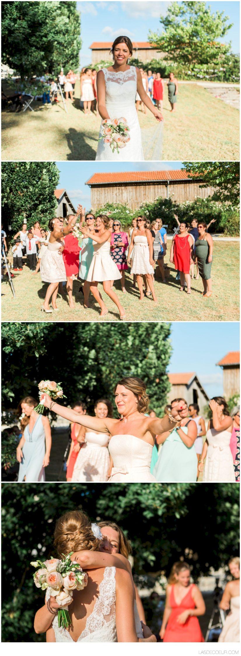photographe mariage Bordeaux jeté de bouquet