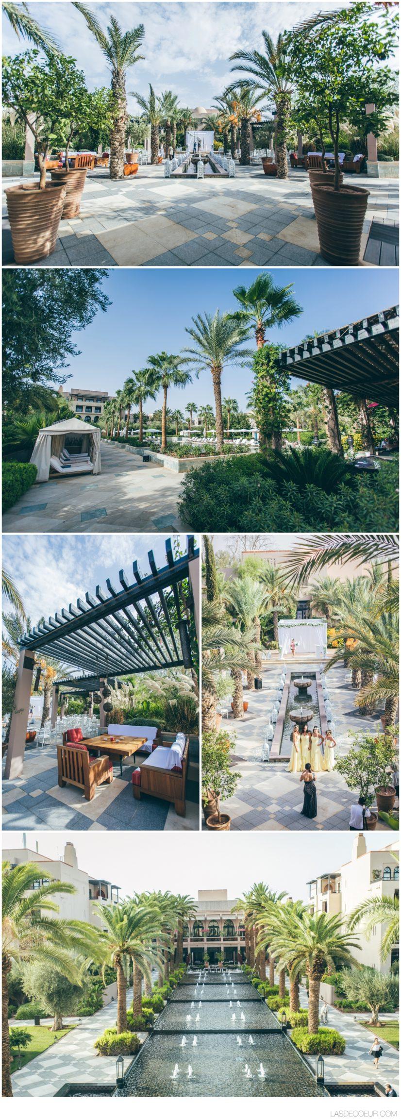 Four Seasons Marrakech cérémonie mariage extérieur
