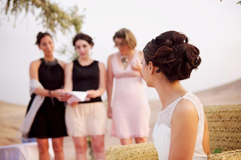 wedding in Marrakech La Pause ceremony ©lasdecoeur