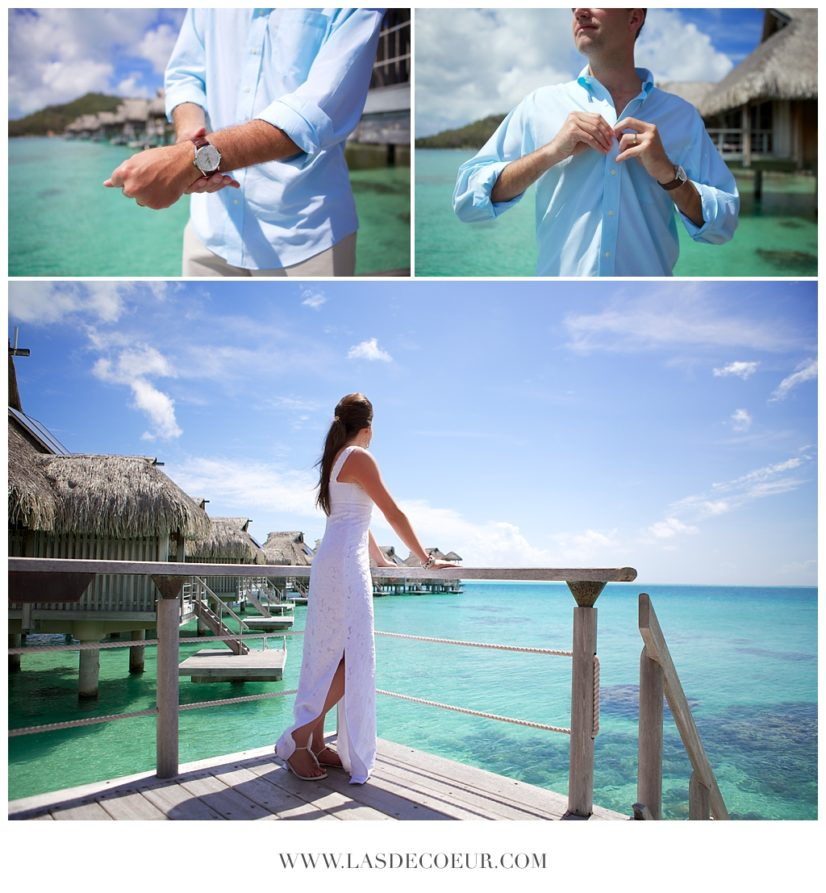 Mariage dans les iles Bora Bora Tahiti ©lasdecoeur