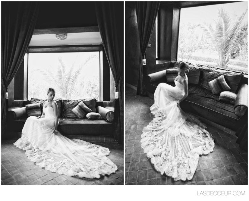 robe mariée maroc noir et blanc