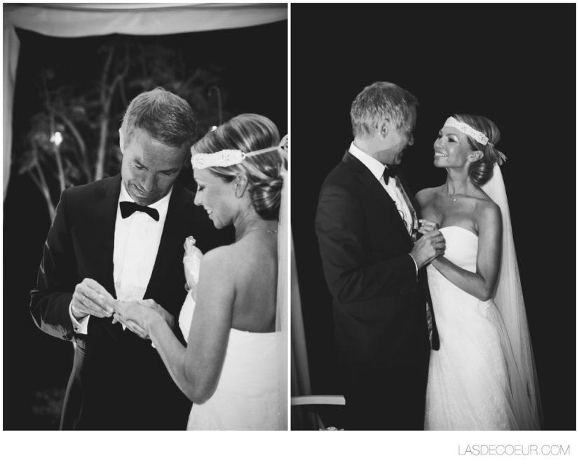 cérémonie de mariage marrakech noir et blanc