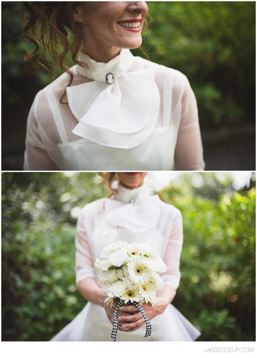 photographe mariage lyon croix-rousse mariée retro