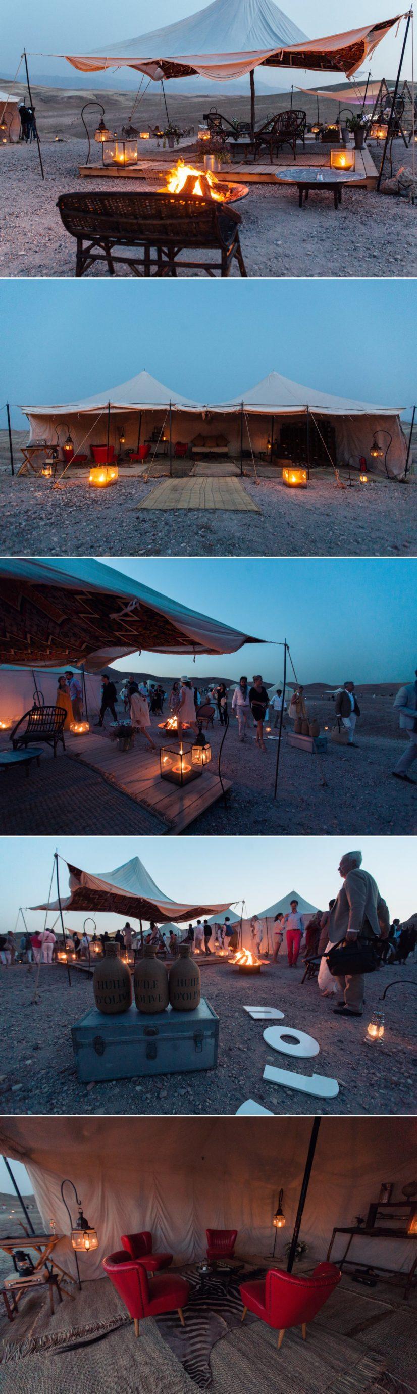 Camp mariage dans le desert Scarabéo