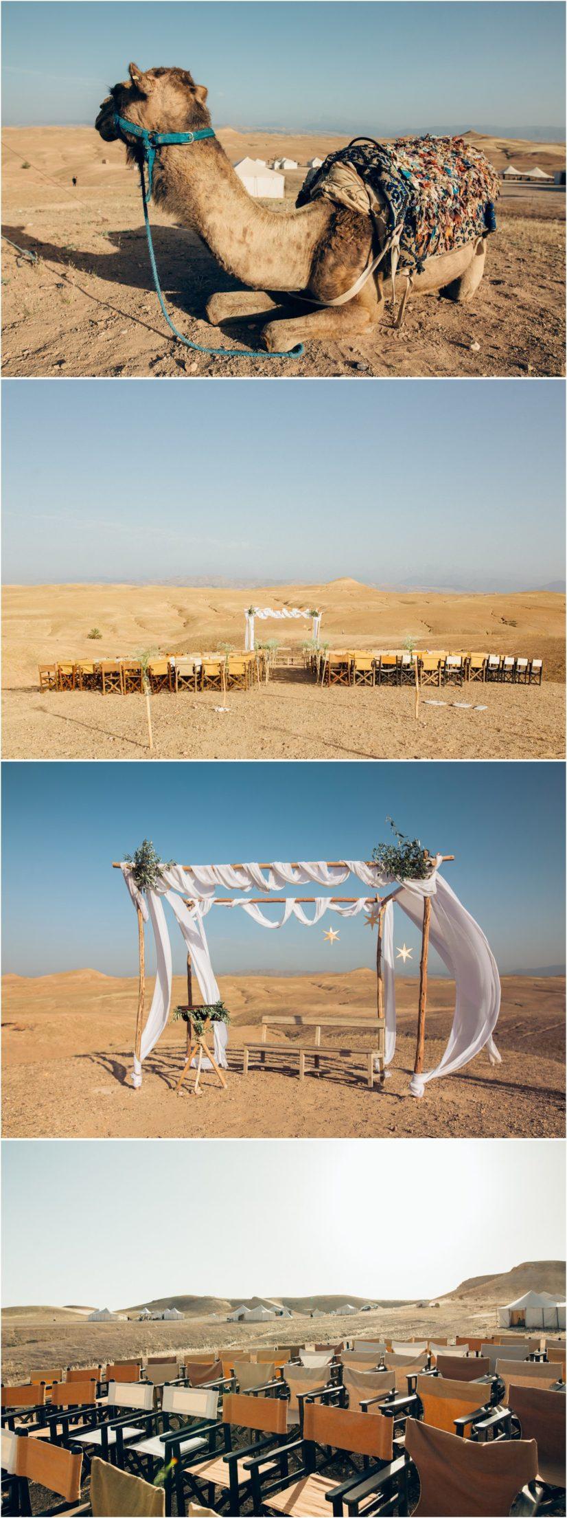 cérémonie mariage desert Agafay maroc