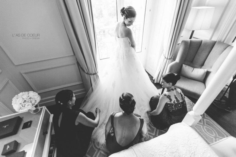 préparatifs mariée Montreux palace suisse