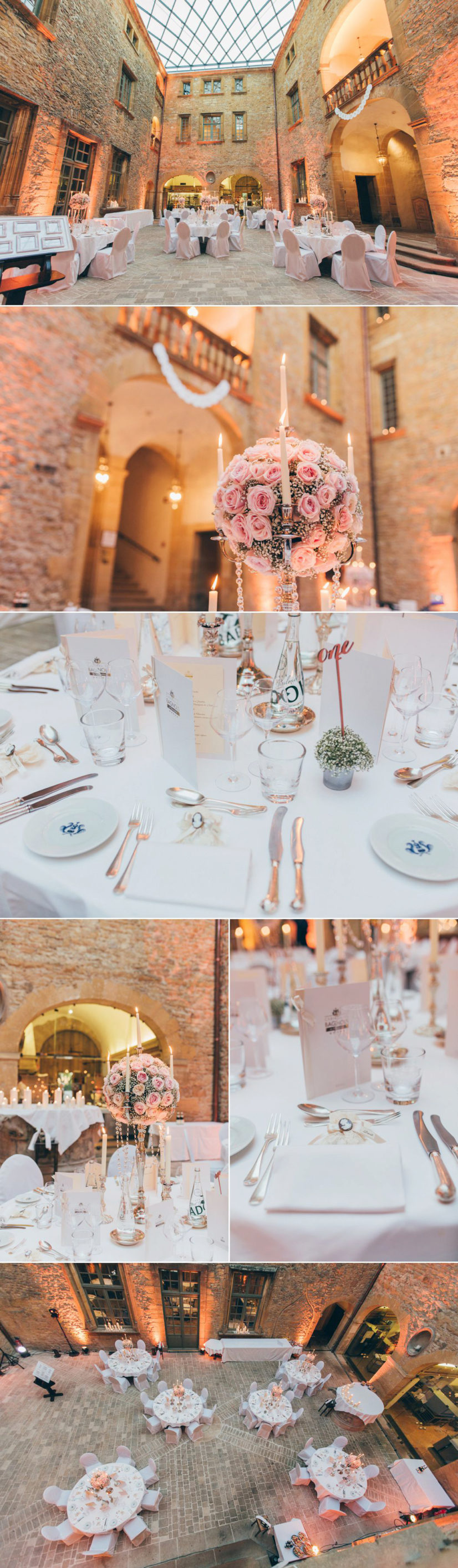 photographer in a French castle table decoration