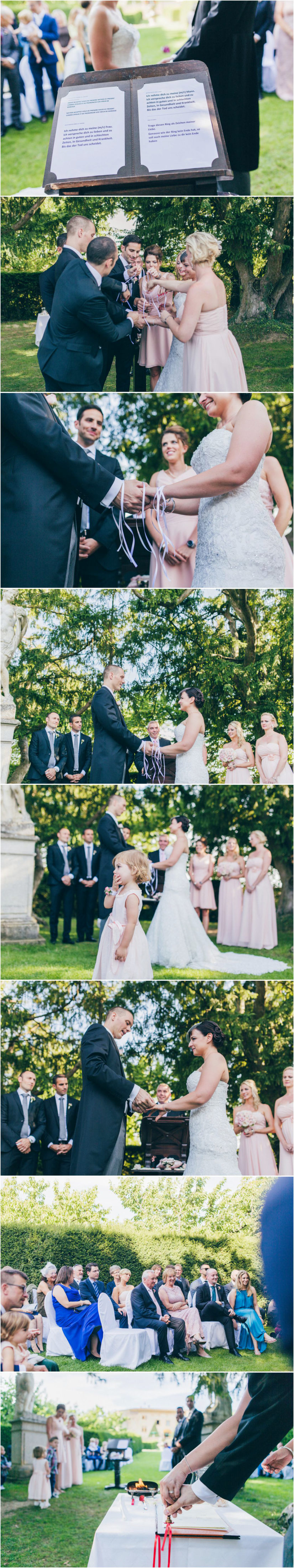 French wedding photographer ceremony chateau Bagnols Burgundy France