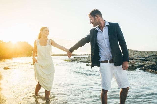 Mariage Dans Les Caraïbes Sur La Plage