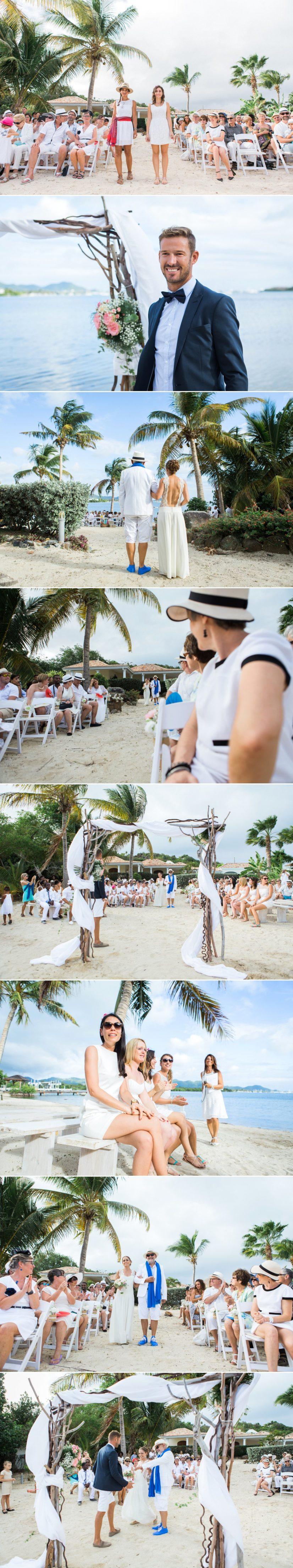cérémonie mariage plage caraïbes