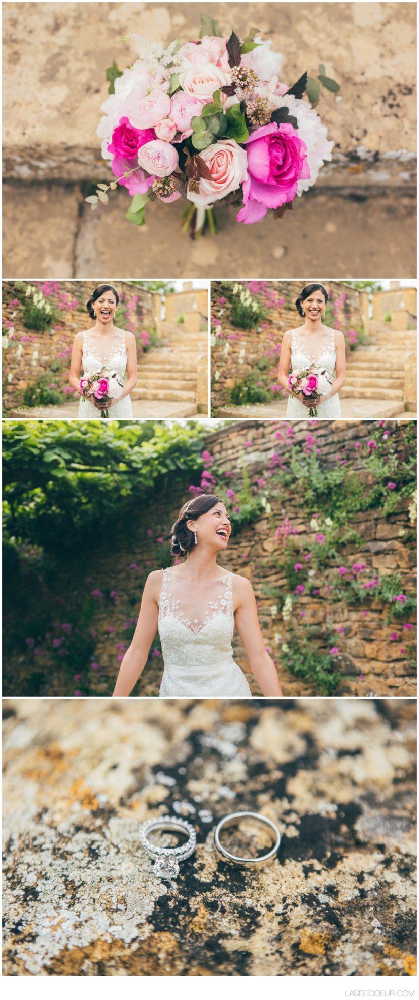 Photo bouquet mariage Chateau Lyon ©lasdecoeur