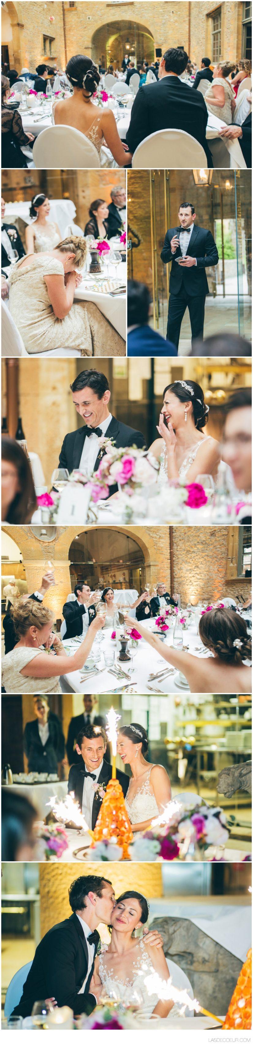 Photo discours mariage Chateau Bagnols Lyon ©lasdecoeur
