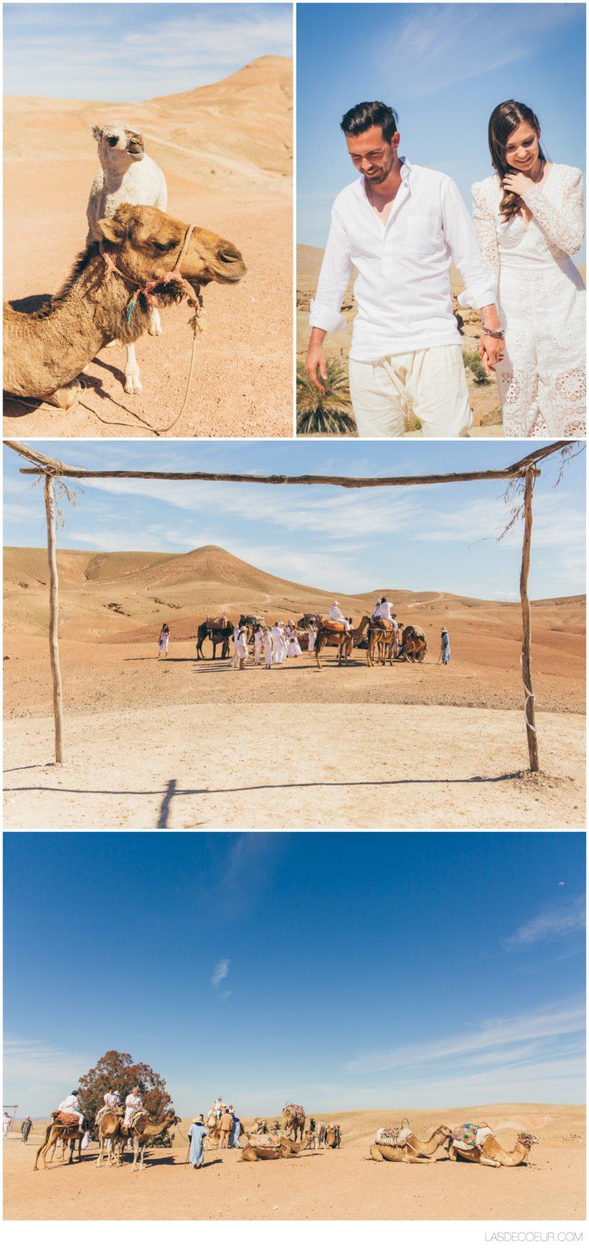 Photo mariage Marrakech désert Agafay