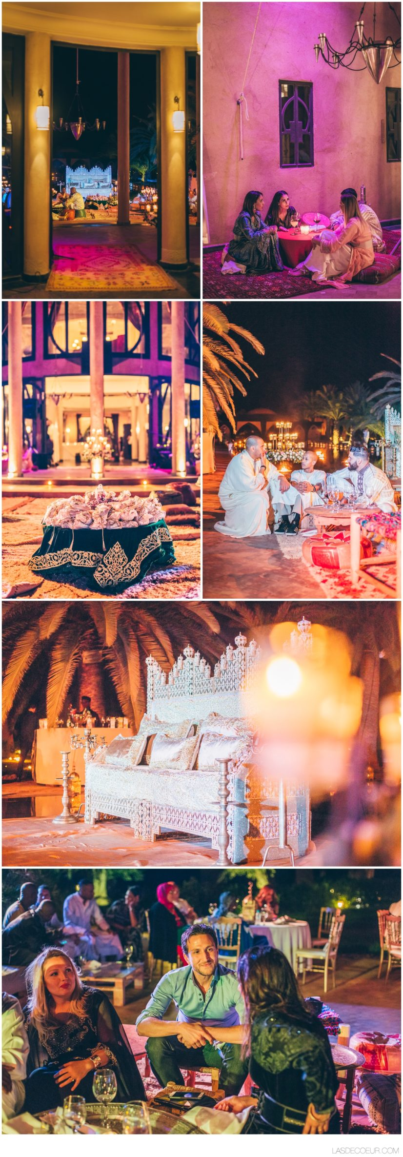 Décoration mariage Palais O'Atlas Trone