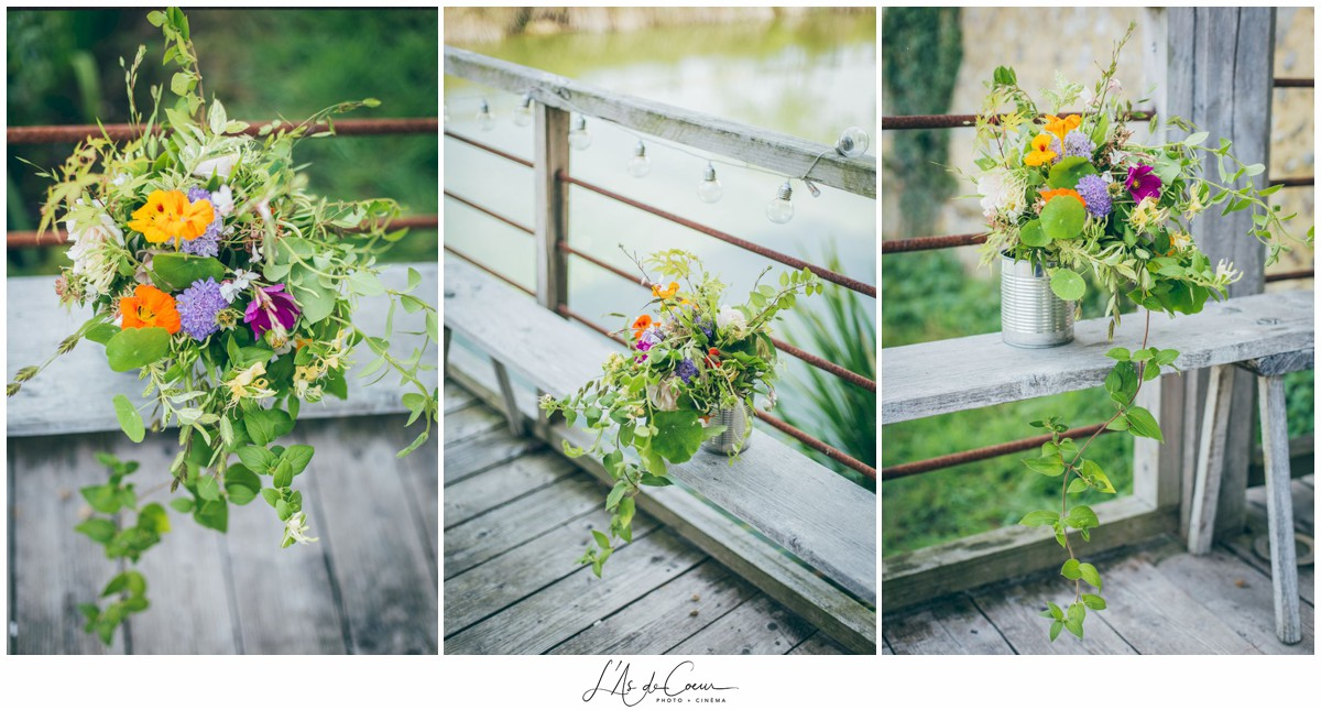 Bouquet champetre mariage au Domaine des Evis ©lasdecoeurphoto
