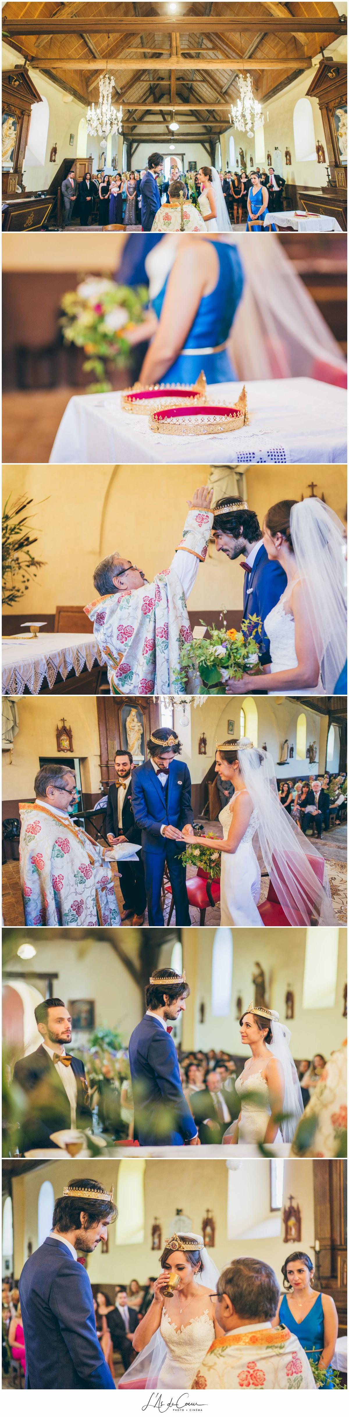 Cérémonie arménienne eglise mariage au Domaine des Evis ©lasdecoeurphoto