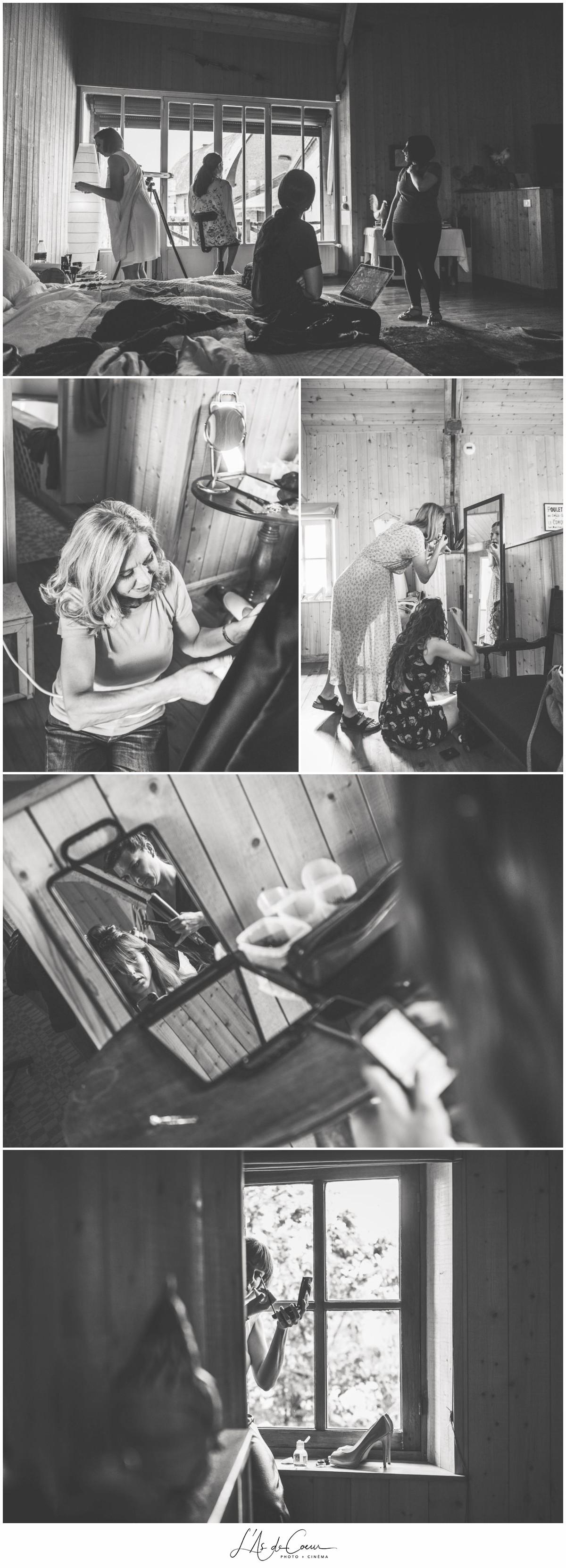 Préparatifs mariées au Domaine des Evis ©lasdecoeur
