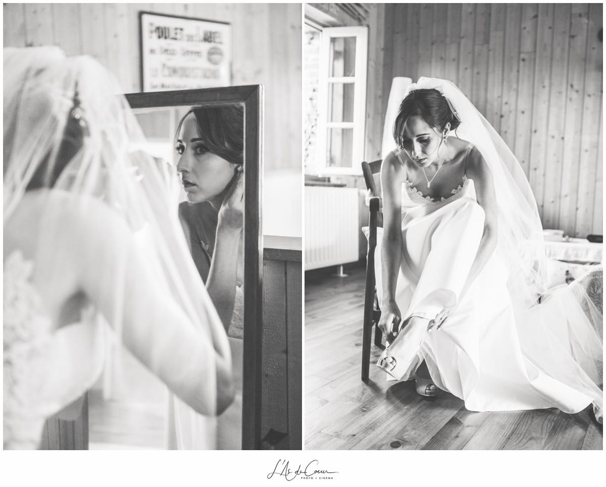 Préparatifs mariée au Domaine des Evis 2