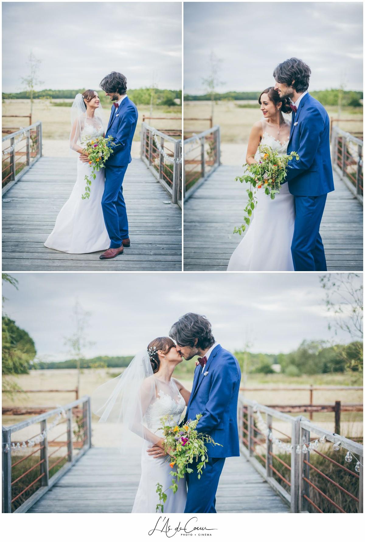 photo couple mariage au Domaine des Evis ©lasdecoeurphoto