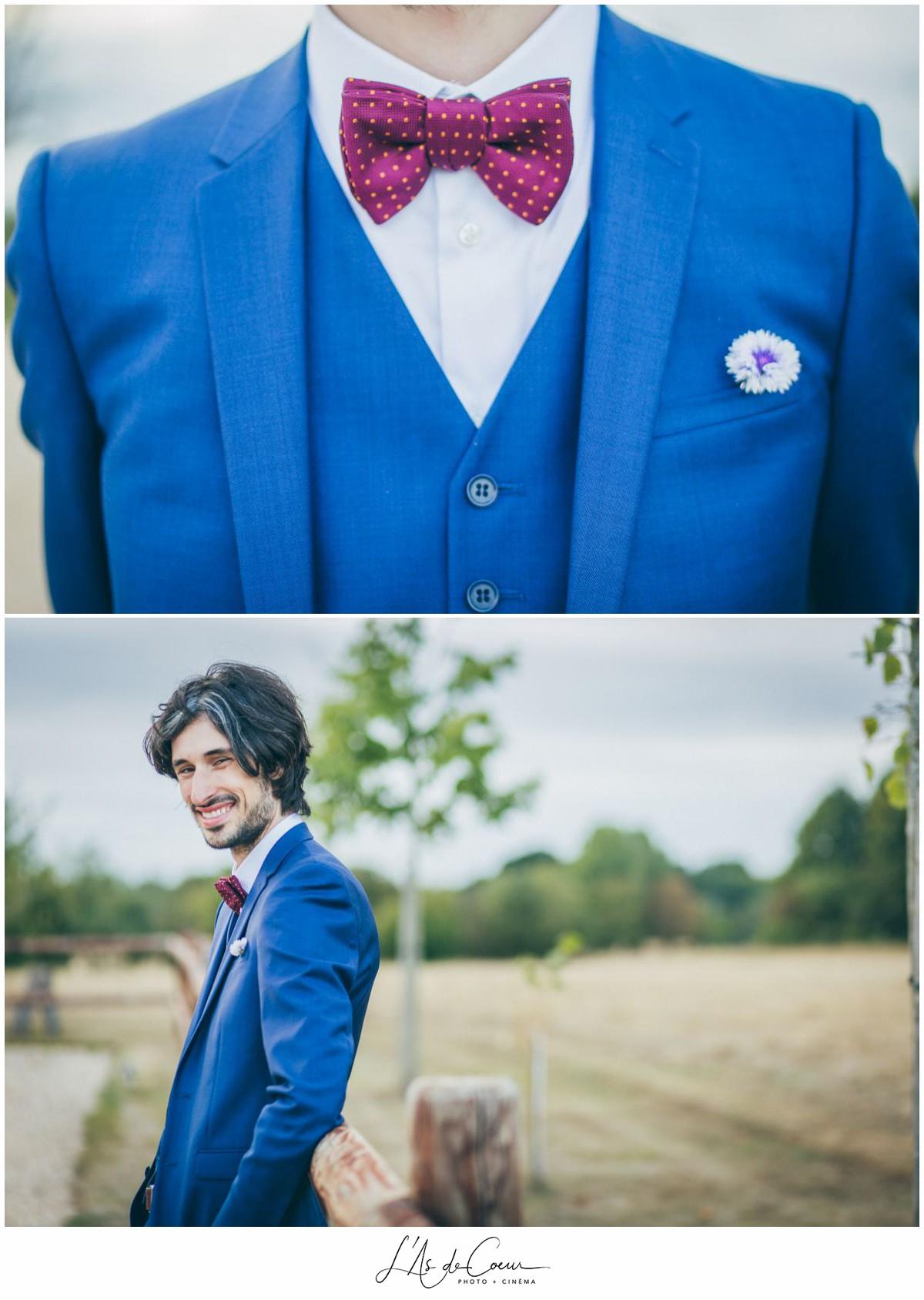 portrait marié mariage au Domaine des Evis ©lasdecoeur