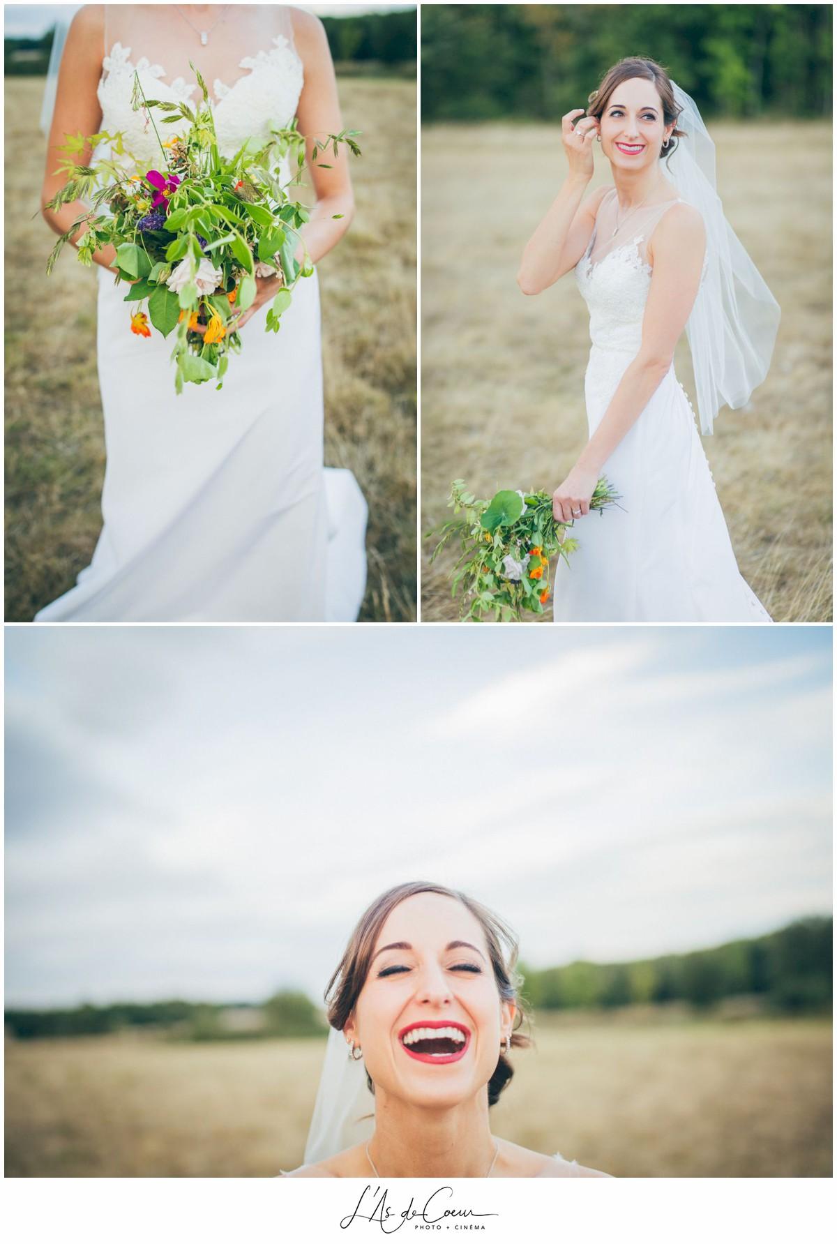 portrait mariée mariage au Domaine des Evis ©lasdecoeur
