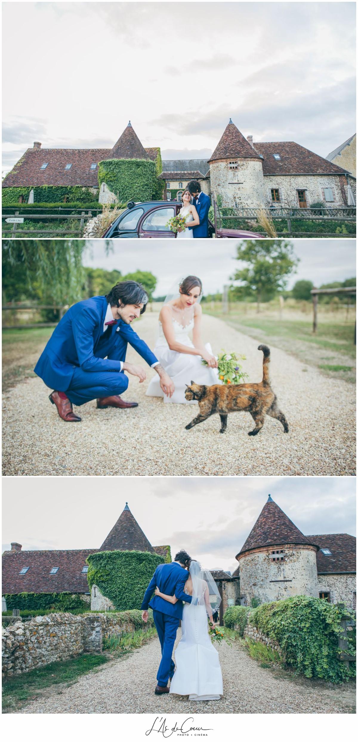 portrait mariés mariage au Domaine des Evis ©lasdecoeur