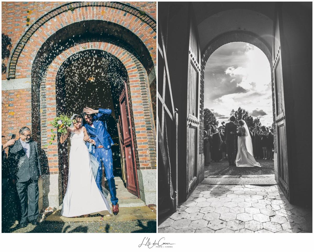 sortie eglise mariage au Domaine des Evis ©lasdecoeurphot