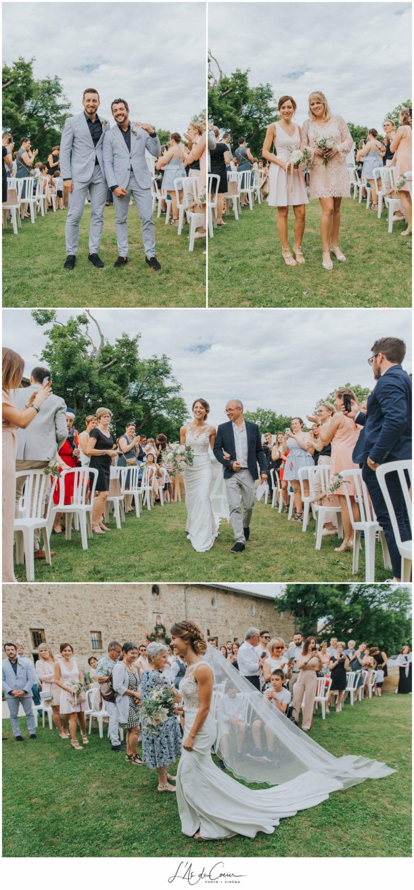 Céremonie laïque mariage Chateau de la Gallée Millery Lyon