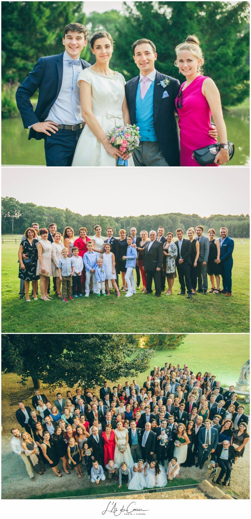 photo mariage famille Domaine de la Butte Ronde Paris