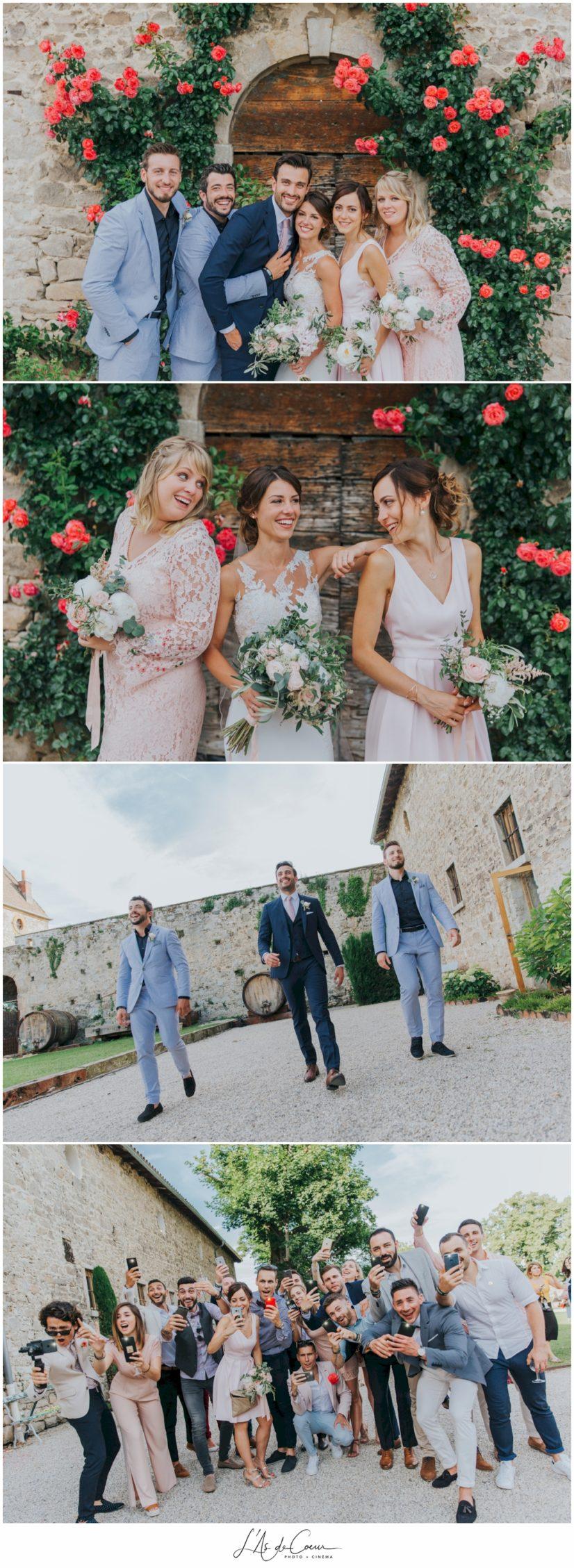Photos temoins mariage Chateau de la Gallée Millery Lyon