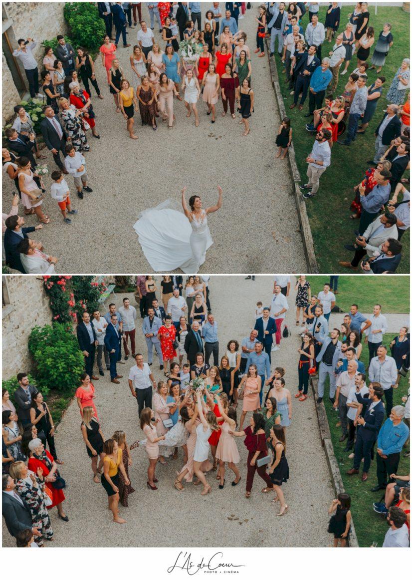 lancé bouquet mariage Chateau de la Gallée Millery Lyon