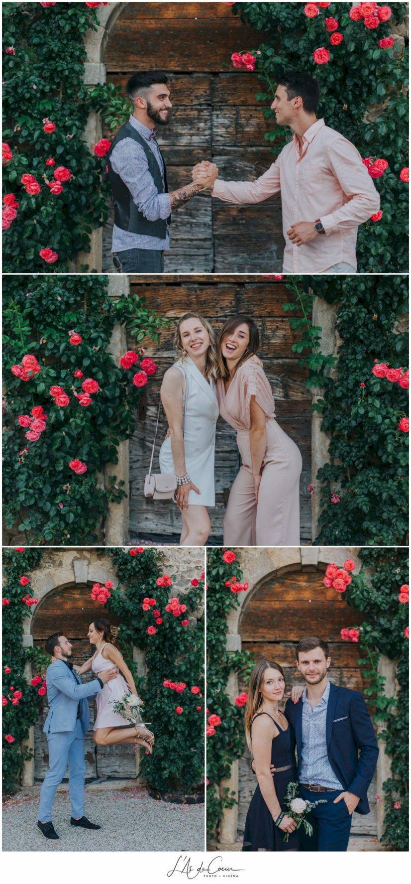 photos amis mariage Chateau de la Gallée Millery Lyon