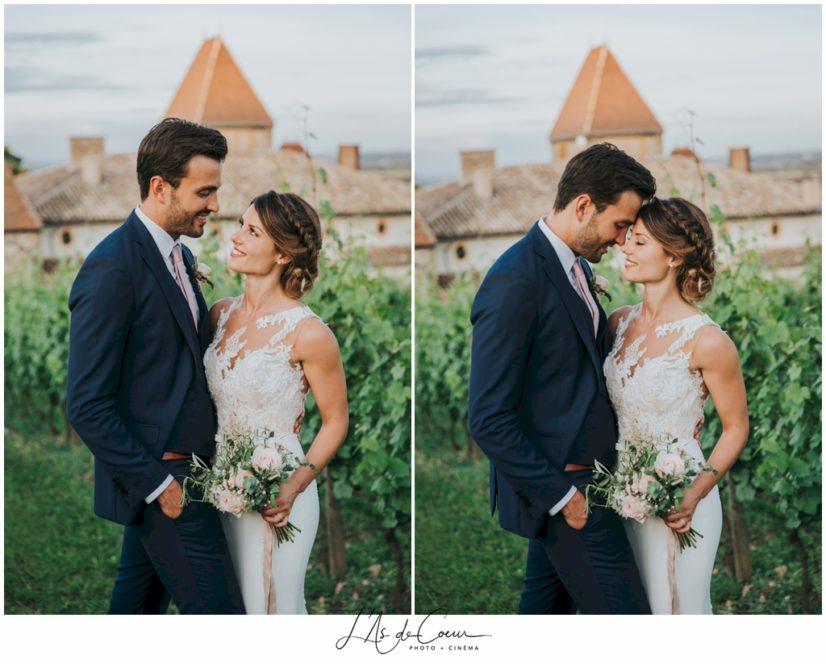 photos couple mariage Chateau de la Gallée Millery Lyon
