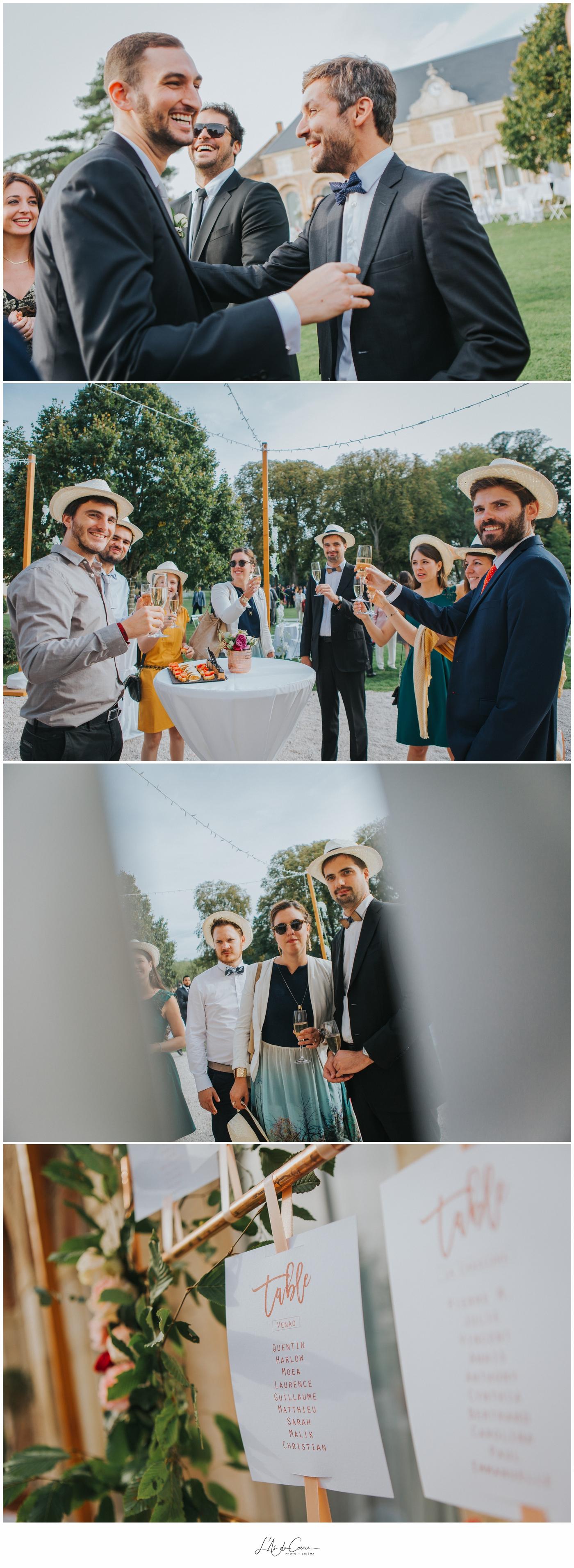 cocktail mariage Château de Varennes ©lasdecoeur