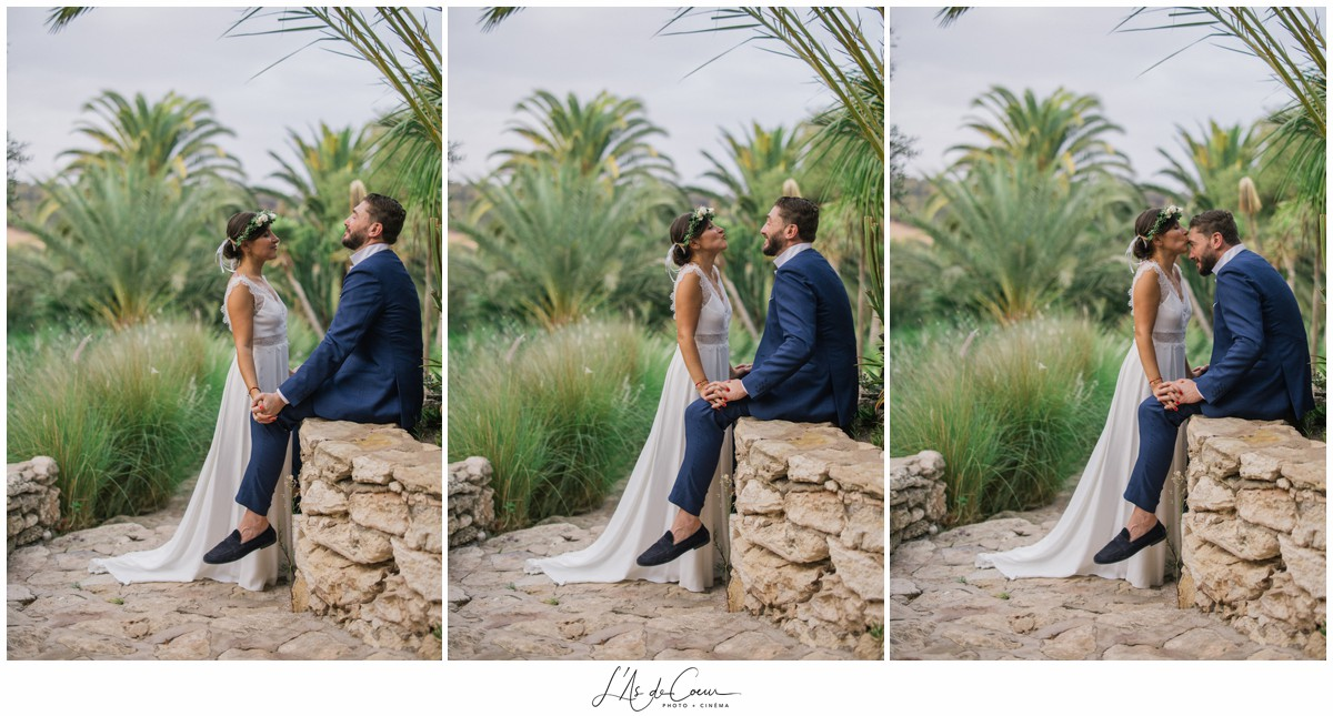 Photos couple Mariage Essaouira le Jardin des Douars Maroc ©lasdecoeurphoto