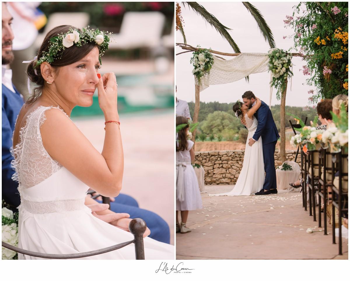 Emotion ceremonie Mariage Boheme Essaouira le Jardin des Douars Maroc ©lasdecoeurphoto
